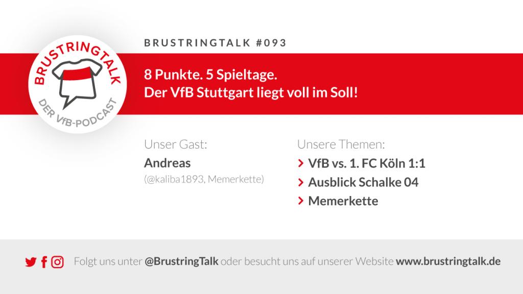BrustringTalk 093 - VfB Stuttgart gegen 1. FC Köln