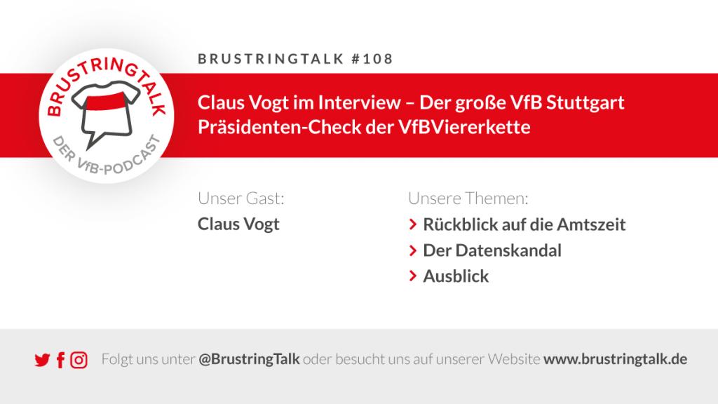 Claus Vogt in der VfB Viererkette im Interview